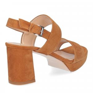 Il laccio Sandalo E2700 camoscio cuoio-5