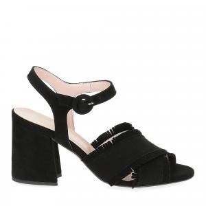 Il Laccio sandalo 1606 camoscio nero-2