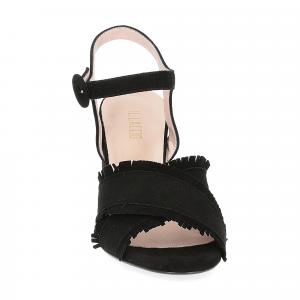 Il Laccio sandalo 1606 camoscio nero-3
