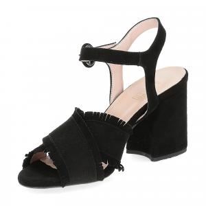Il Laccio sandalo 1606 camoscio nero-4
