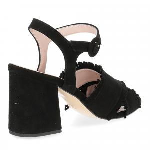 Il Laccio sandalo 1606 camoscio nero-5