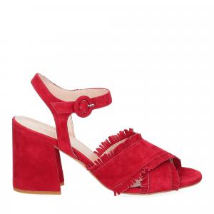 Il Laccio sandalo 1606 camoscio rosso-2