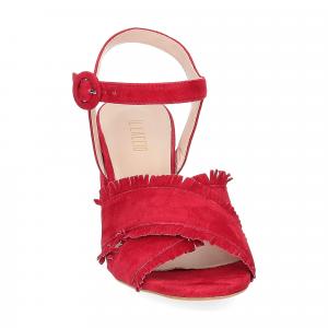 Il Laccio sandalo 1606 camoscio rosso-3