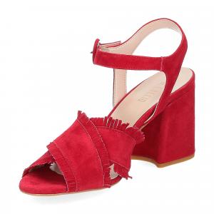 Il Laccio sandalo 1606 camoscio rosso-4