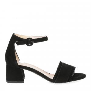 Il Laccio sandalo 519 camoscio nero-3