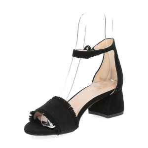 Il Laccio sandalo 519 camoscio nero-4