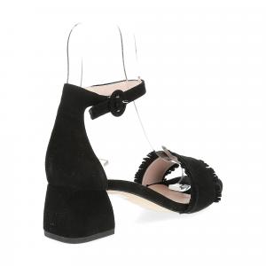 Il Laccio sandalo 519 camoscio nero-5