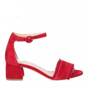 Il Laccio sandalo 519 camoscio rosso-2