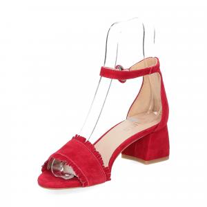 Il Laccio sandalo 519 camoscio rosso-4