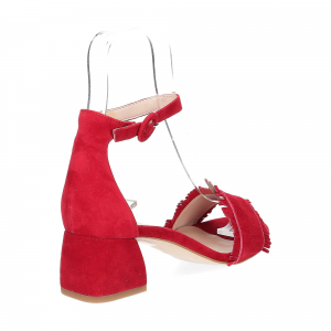 Il Laccio sandalo 519 camoscio rosso-5