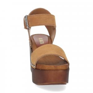 Il Laccio Sandalo zoccolo camoscio cuoio-2