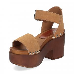 Il Laccio Sandalo zoccolo camoscio cuoio-4