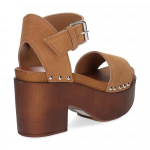 Il Laccio Sandalo zoccolo camoscio cuoio-5