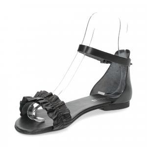 Il laccio sandalo pelle nera-4