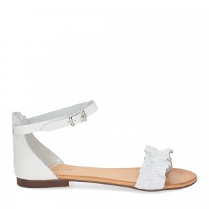 Il laccio sandalo pelle bianca-2