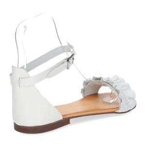 Il laccio sandalo pelle bianca-5