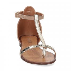 Il laccio sandalo infradito camoscio taupe-3