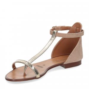 Il laccio sandalo infradito camoscio taupe-4