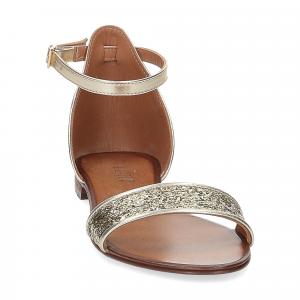 Il laccio sandalo pelle laminata -3