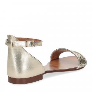 Il laccio sandalo pelle laminata -4