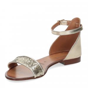 Il laccio sandalo pelle laminata -5
