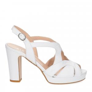 Il Laccio sandalo in pelle bianca-2