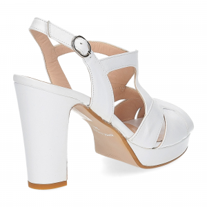 Il Laccio sandalo in pelle bianca-5