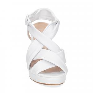 Il Laccio sandalo pelle bianca 9cm-2