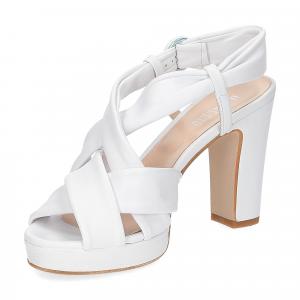 Il Laccio sandalo pelle bianca 9cm-4