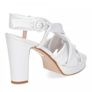 Il Laccio sandalo pelle bianca 9cm-5