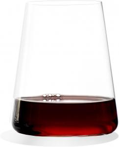 Set di 6 bicchieri da vino rosso Power 515 ml, in cristallo senza piombo cm.11h diam.9,5