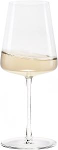 Set di 6 calici da vino bianco Power 400 ml, in cristallo senza piombo cm.21h diam.8,5