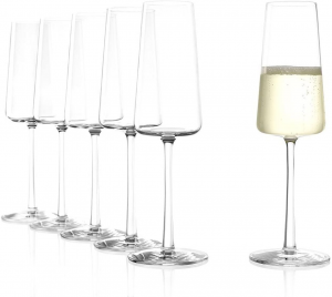 Set di 6 calici da champagne Power 240 ml in cristallo senza piombo cm.22,6h diam.7,2