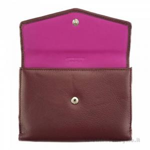 Portafoglio donna Bordeaux in pelle - Isotta - Pelletteria Fiorentina