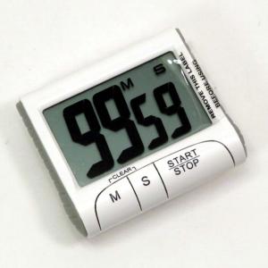 Timer digitale bianco con numeri grandi