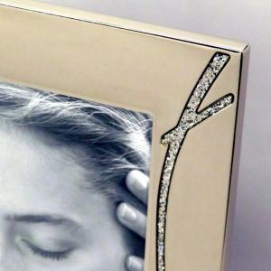 Cornice portafoto in silver con brillanti 10x15