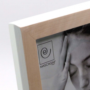 Cornice portafoto in legno bordo bianco 13x18