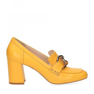 Anna De Bray mocassino accessorio vitello giallo-2