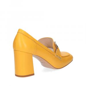 Anna De Bray mocassino accessorio vitello giallo-4