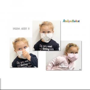 Mascherina lavabile Bambino POIS Andy & Helen - Rosa