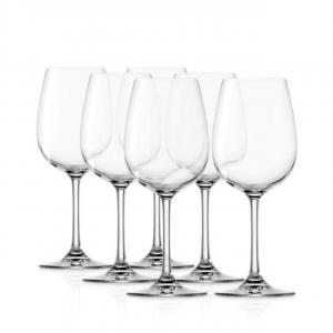 Set 6 calici per vino bianco Weiland 350 ml in vetro cristallino cm.19,5h diam.7,9