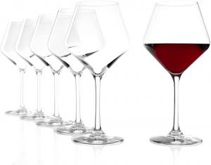 Set 6 calici in vetro cristallo per vino rosso tipo Borgogna, 545 ml Revolution cm.22,5h diam.7