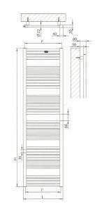Radiatore scaldasalviette bianco 500x1750