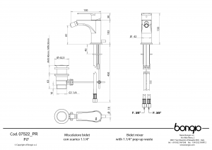 BONGIO Pi7 MISCELATORE BIDET