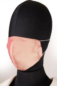 Mascherina in Tessuto di Seta Rosa Lavabile
