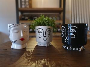 Vaso ceramica stilizzato black