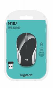 Logitech M187 mouse RF Wireless Ottico 1000 DPI Ambidestro
