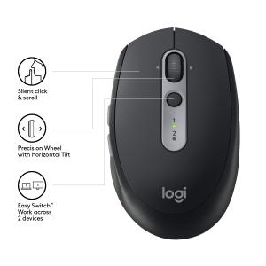 Logitech M590 mouse Wireless a RF + Bluetooth Ottico 1000 DPI Mano destra
