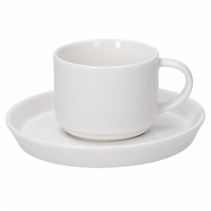 Tognana - 6 TAZZE CAFFE' C/PIATTINO - POLAR BIANCO