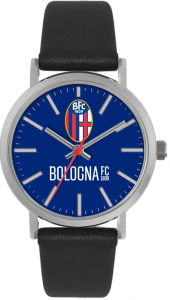Bologna Fc Unisex BLACK LEATHER WATCH TIDY BOLOGNA
